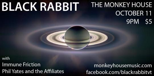 Black Rabbit flyer at The Monkey House 10.11.11