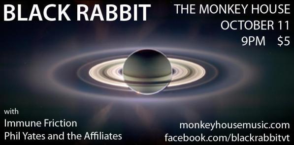 Black Rabbit flyer at The Monkey House 10.11.11