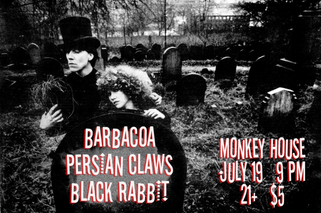 Persian Claws Barbacoa Black Rabbit at The Monkey House July 19 2012 Winooski Burlington VT