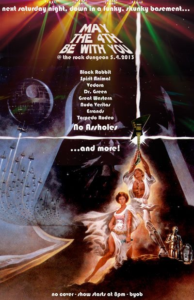 Rock Dungeon party 5.4.13 may the 4th be with you