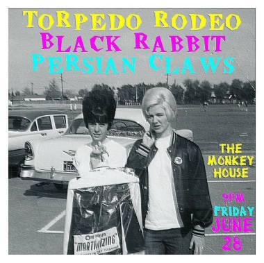 punk at the monk! garage rock night at the monkey house winooski vt persian claws black rabbit torpedo rodeo june 28 2013 punk rock live show