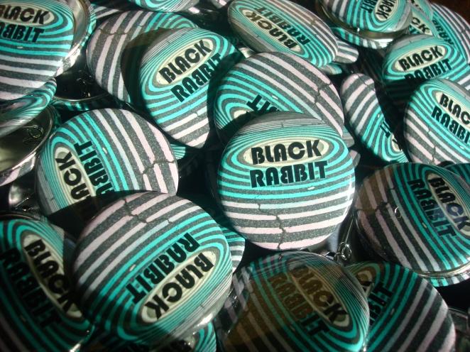 Black Rabbit buttins from Rogue Radish Burlington VT