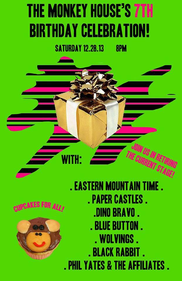 monkey house 7th birthday party 12.28.13