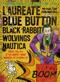 Valentine's Day 2014 at The Monkey House with Laureate, Blue Button, Black Rabbit, Wolvings and Nautica
