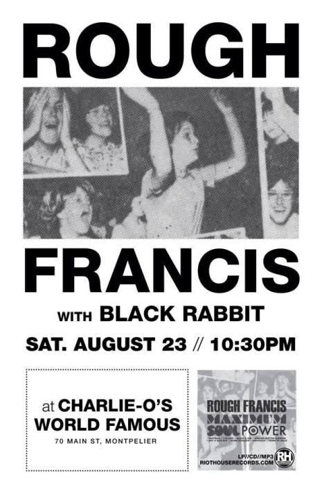 Rough Francis Black Rabbit rock the capital 8/23 /14 Charlie O's