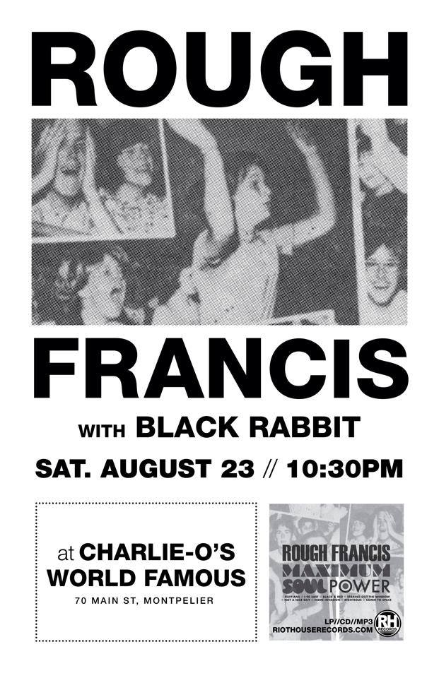 Rough Francis Black Rabbit rock the capital 8/23 /14 Charlie O's