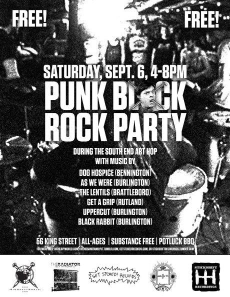 Punk Rock Block Part Big Heavy World at the Art Hop 9.6.14