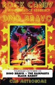 Dino Bravo, Black Rabbit and The Ramparts at Club Metronome 10.23.14