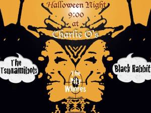 Punk Rock Halloween Party at Charlie O's Black Rabbit Tsunamibots The Pity Whores 10.31.14