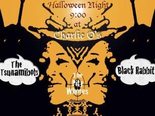 Punk Rock Halloween Party at Charlie O's Black Rabbit Tsunamibots The Pity Whores 10.31.14