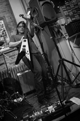Black Rabbit @ Buch Spieler Records 2.27.16 Marc Scarano Flying V