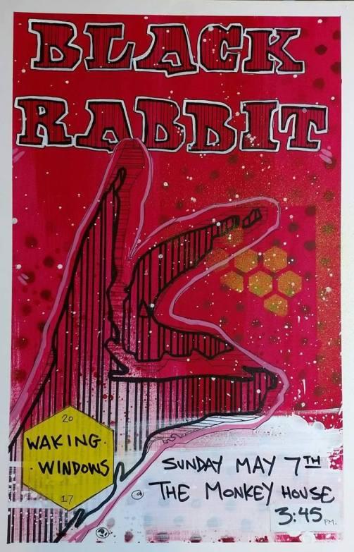 Black Rabbit @ WW7 5.7.17 flyer by Jon Young